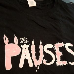 "2X Indie Band ""The Pauses"" concert tour shirt"